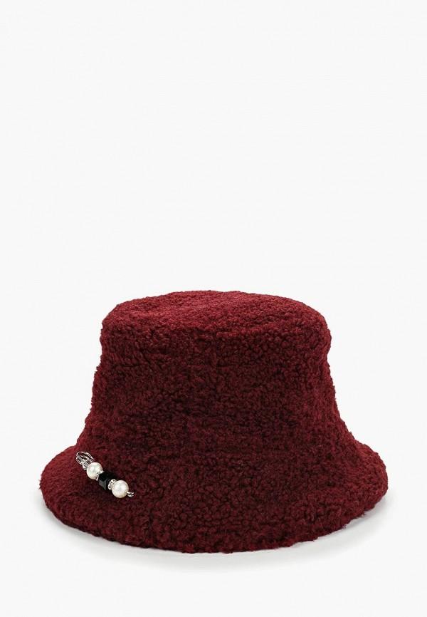 женская шляпа moksi, бордовая