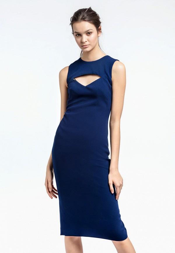женское платье-футляр aina manasheva, синее