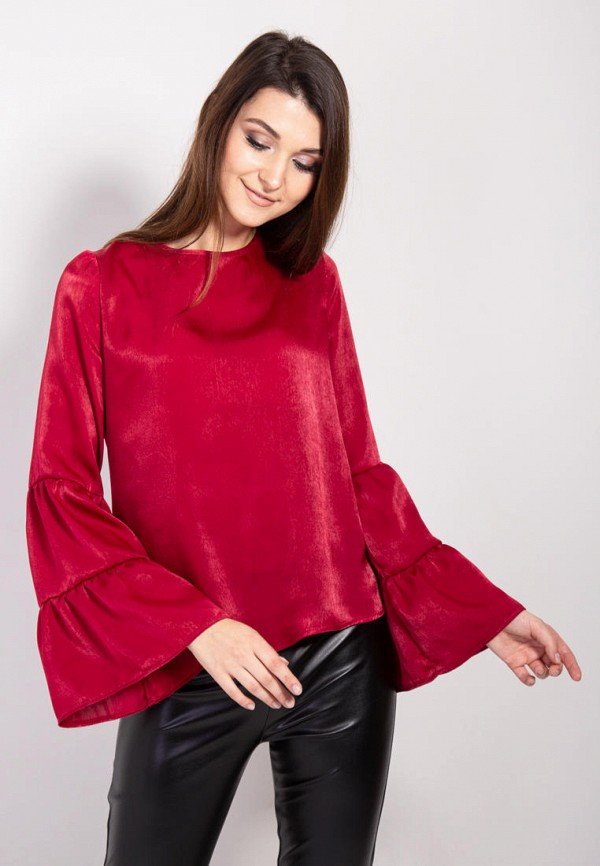 женская блузка bessa, бордовая