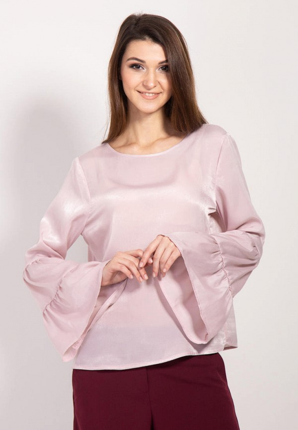 женская блузка bessa, розовая