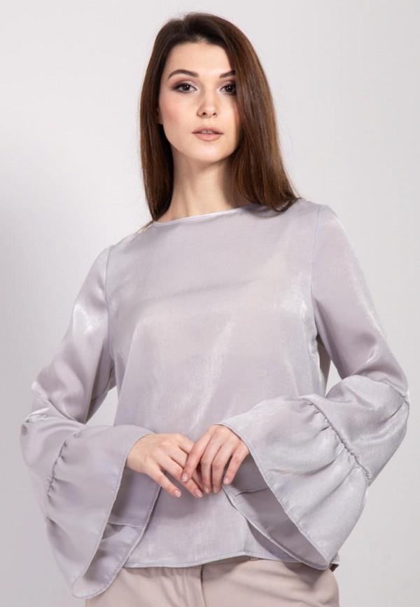 женская блузка bessa, серая
