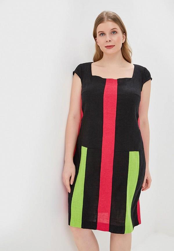 женское повседневные платье love vita, черное