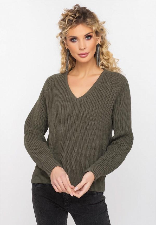 женский пуловер gloss, хаки