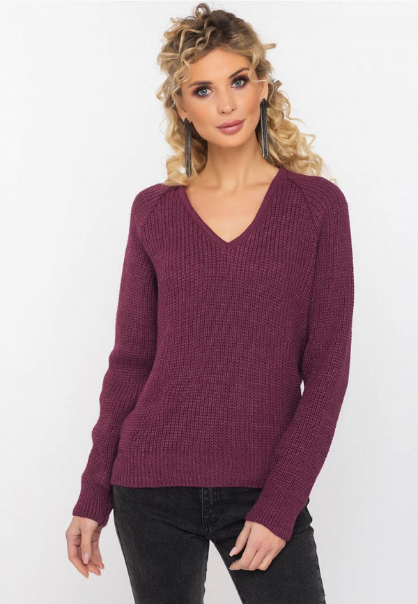 женский пуловер gloss, бордовый
