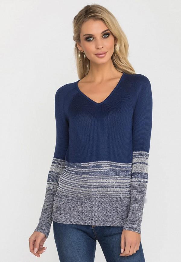женский пуловер gloss, синий