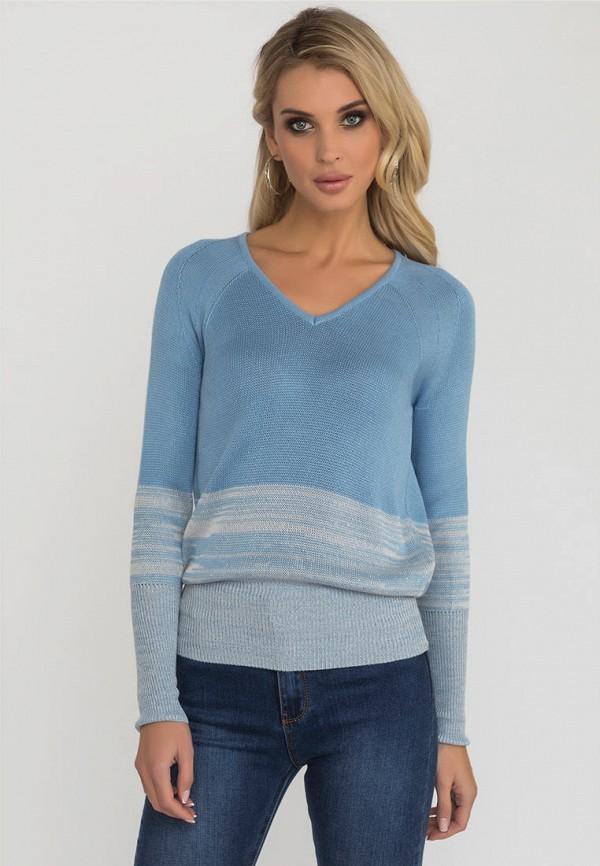 женский пуловер gloss, голубой