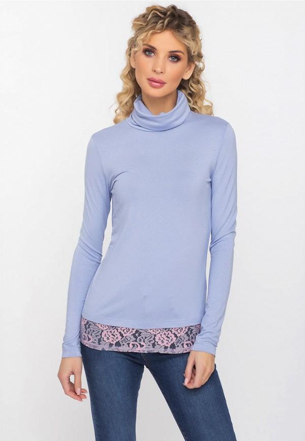 женская водолазка gloss, голубая