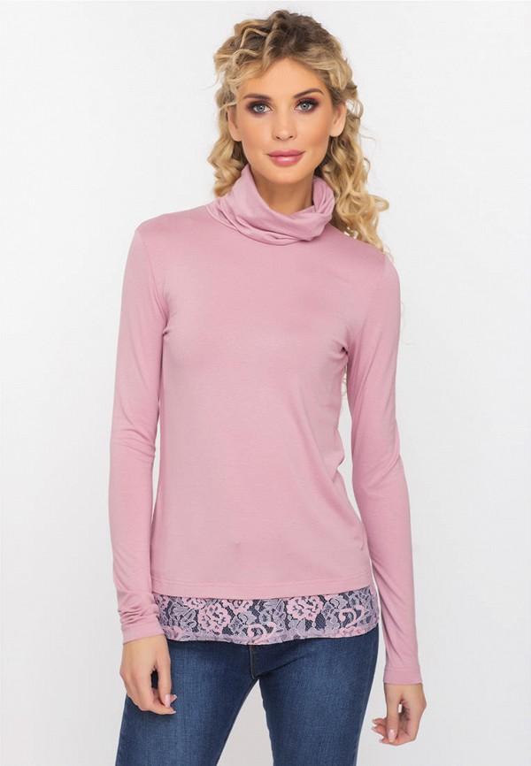 женская водолазка gloss, розовая