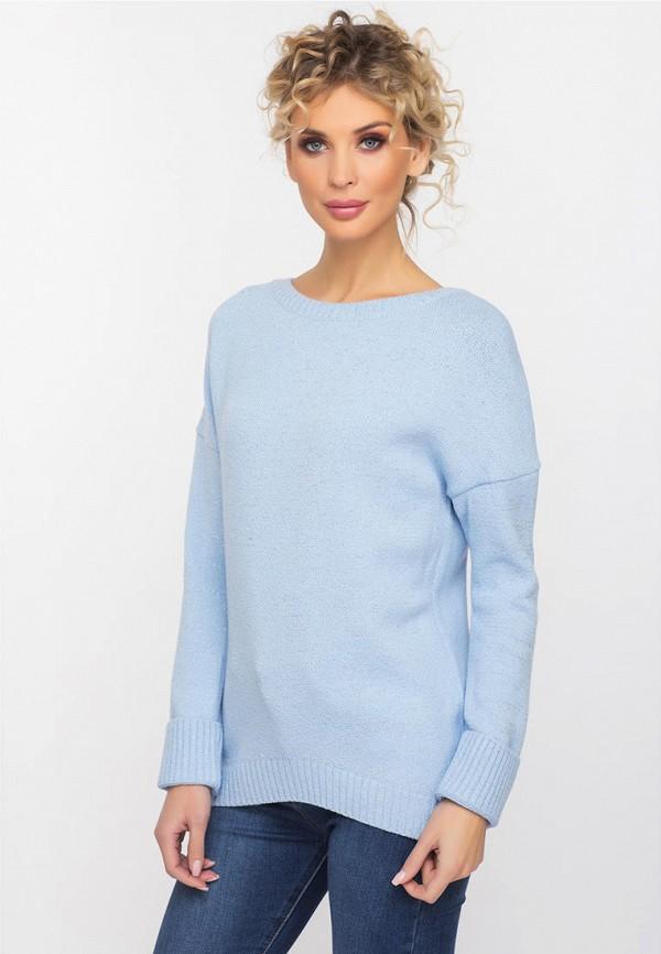 женский джемпер gloss, голубой