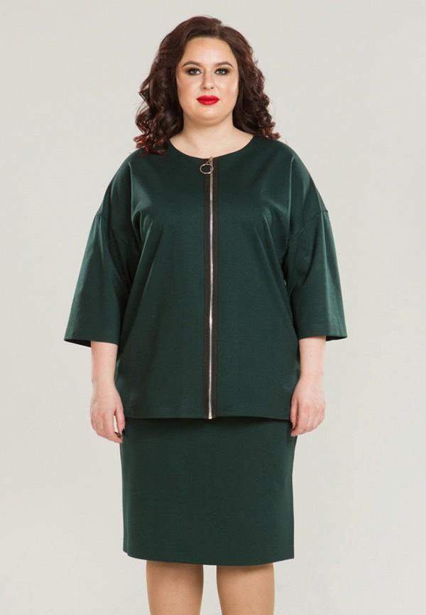 женский костюм luxury plus, зеленый