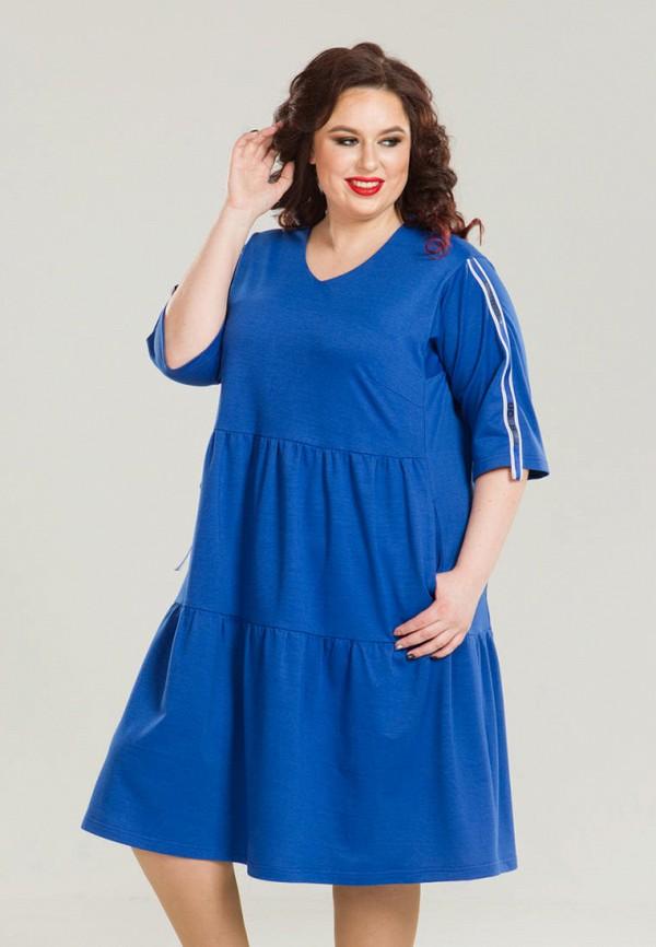 женское платье миди luxury plus, синее