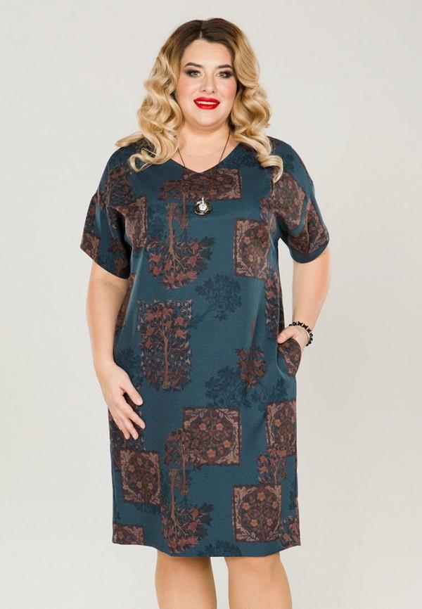 женское платье миди luxury plus, бирюзовое