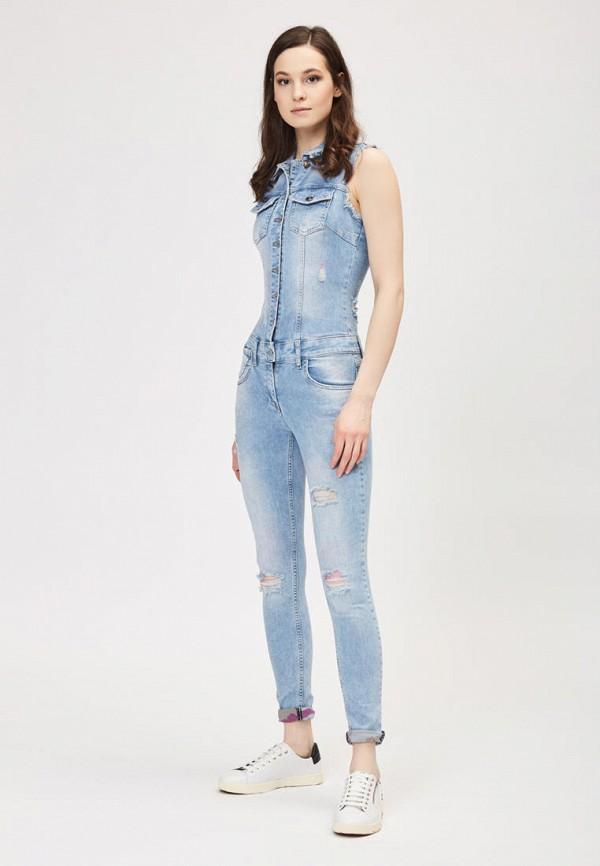 женский джинсовые комбинезон dshe, голубой
