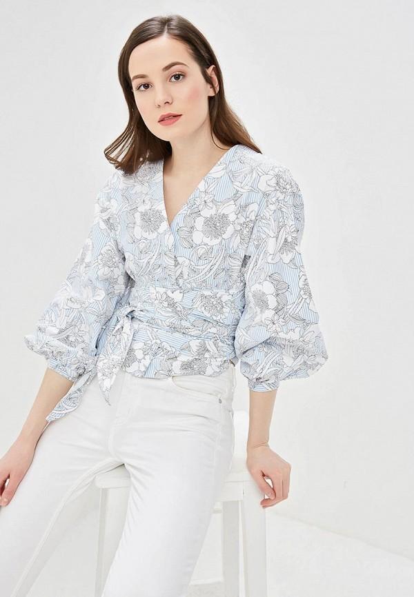 Купить Блуза Befree, mp002xw1idzc, голубой, Весна-лето 2019