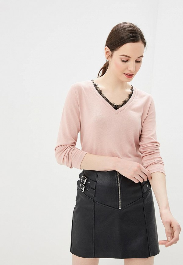 женский пуловер befree, розовый