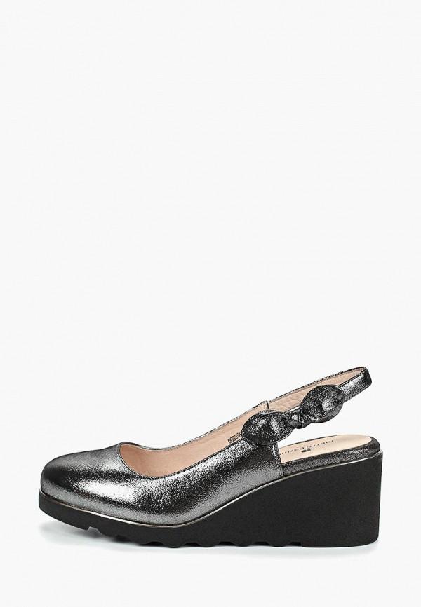женские туфли pierre cardin, серебряные