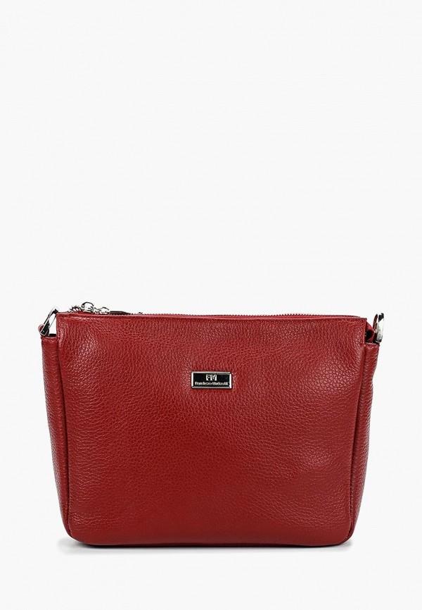 женская сумка franchesco mariscotti, красная
