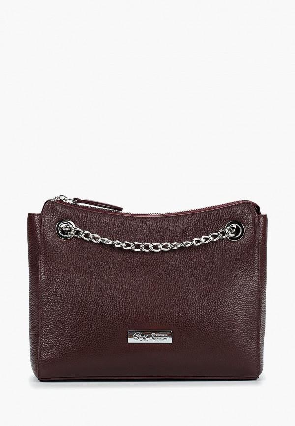 женская сумка franchesco mariscotti, бордовая