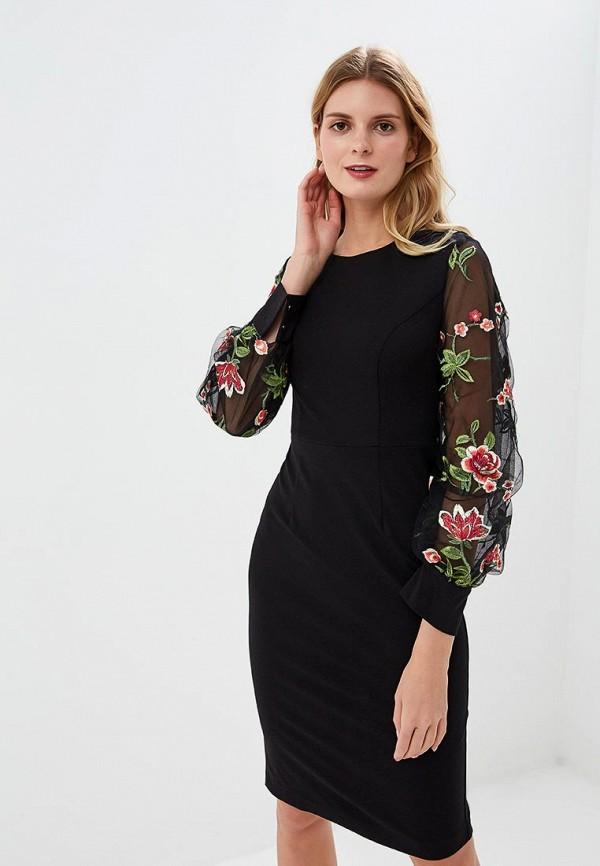 женское платье-футляр fashion.love.story, черное