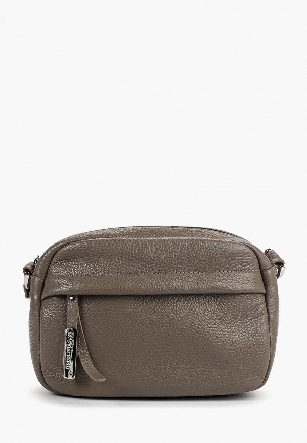 женская сумка franchesco mariscotti, серая