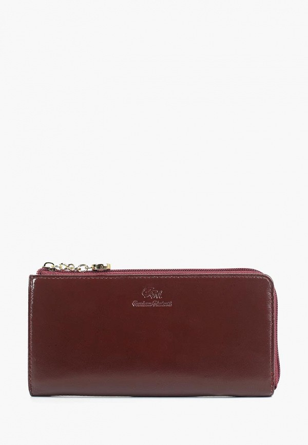 женский кошелёк franchesco mariscotti, бордовый
