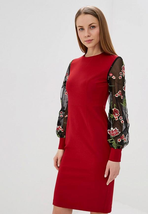 женское платье-футляр fashion.love.story, красное