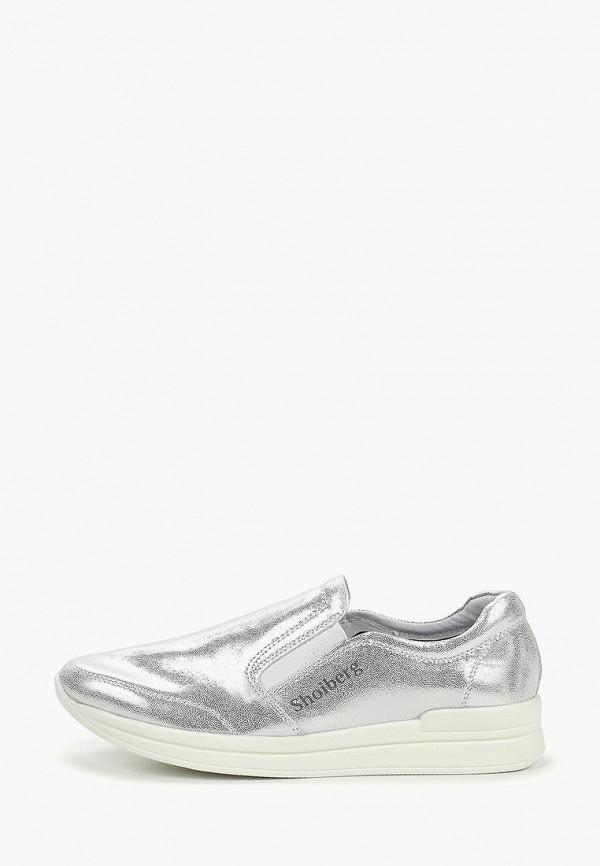 женские кроссовки shoiberg, серебряные