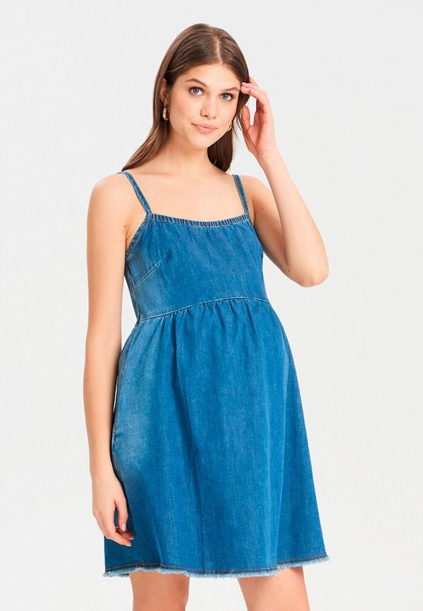 женский сарафан для беременных budumamoy, синий