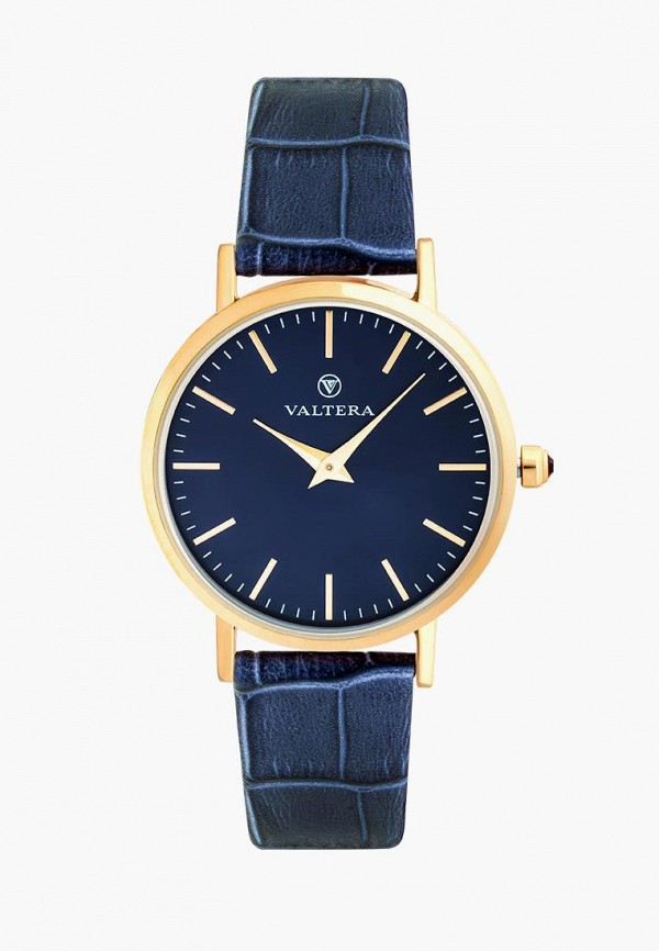 женские часы valtera, синие