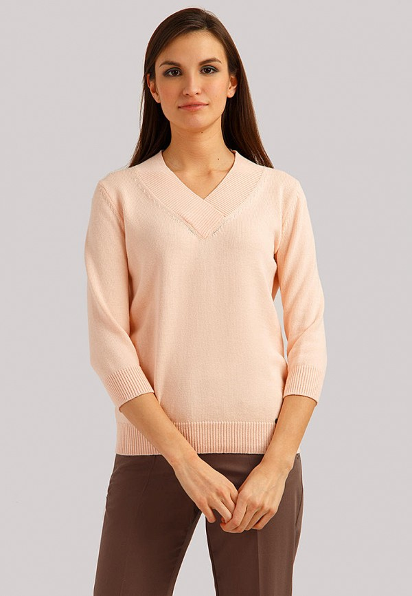 женский пуловер finn flare, розовый