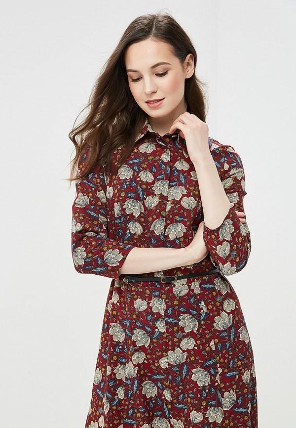 Фото 2 - Женское платье Argent бордового цвета
