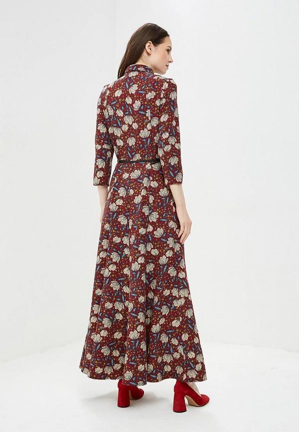 Фото 3 - Женское платье Argent бордового цвета