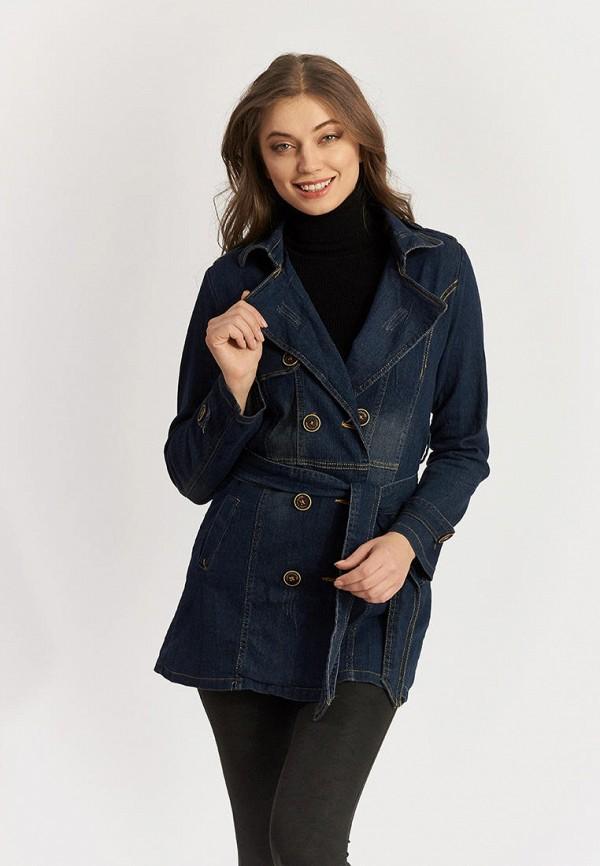 женская джинсовые куртка moon river, синяя