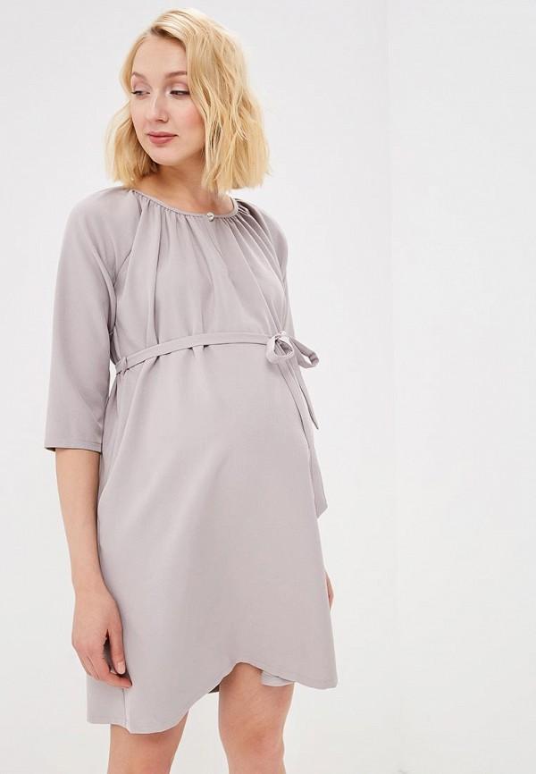 Фото - Платье 9Месяцев 9Дней серого цвета