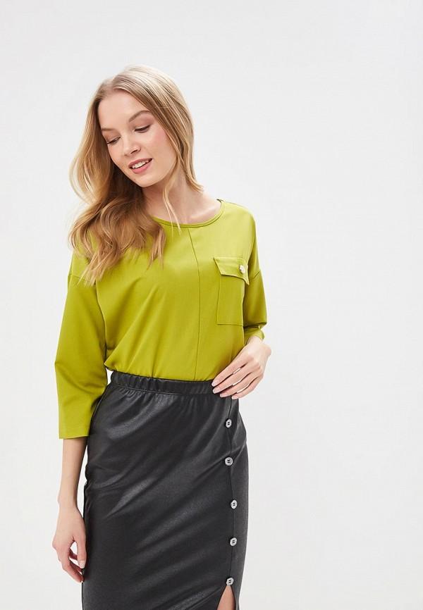 женская блузка eliseeva olesya, зеленая