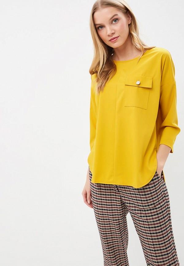 женская блузка eliseeva olesya, желтая