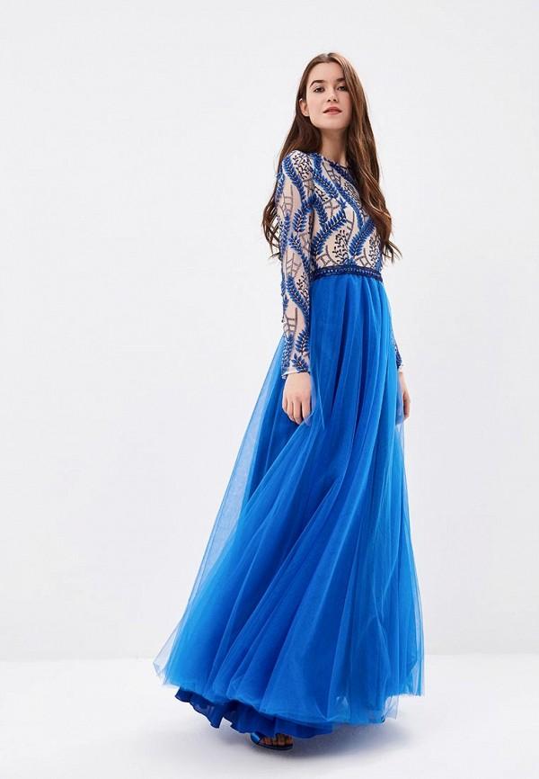 женское вечерние платье ksenia knyazeva, синее