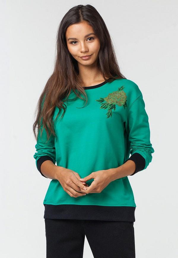 женский свитшот vilatte, зеленый