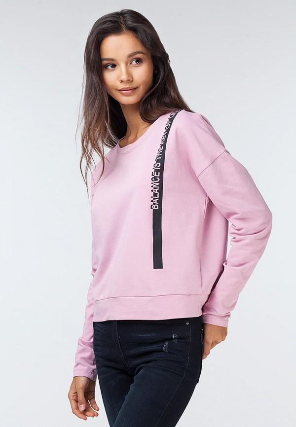 женский свитшот vilatte, розовый
