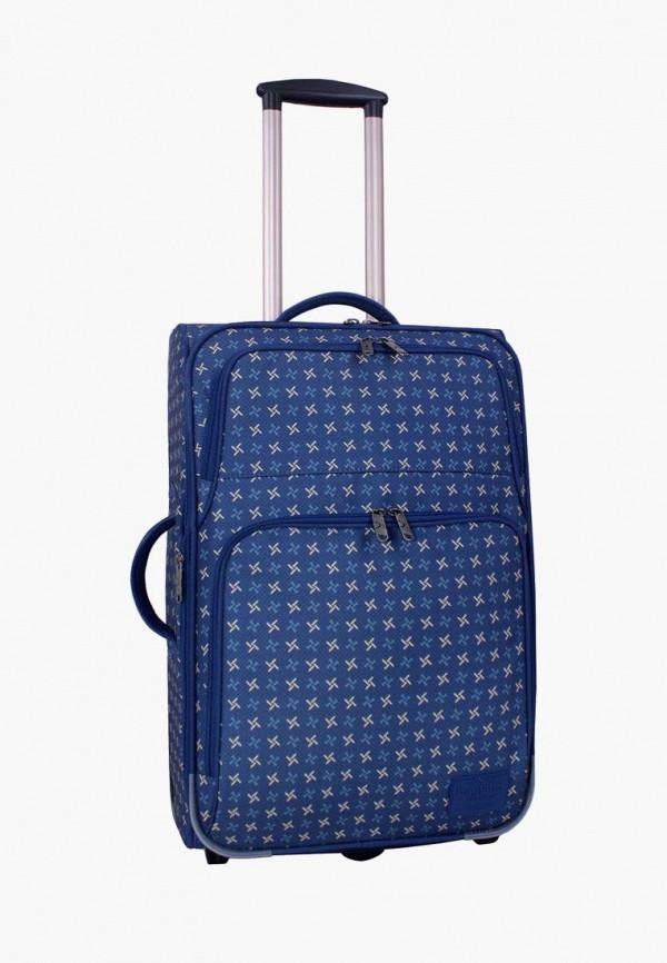 женский чемодан bagland, синий
