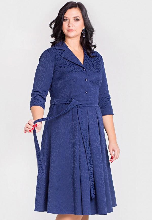 женское платье миди filigrana, синее