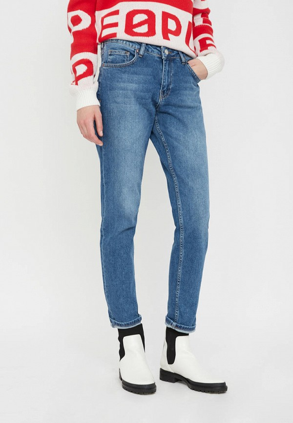 женские прямые джинсы lime, синие