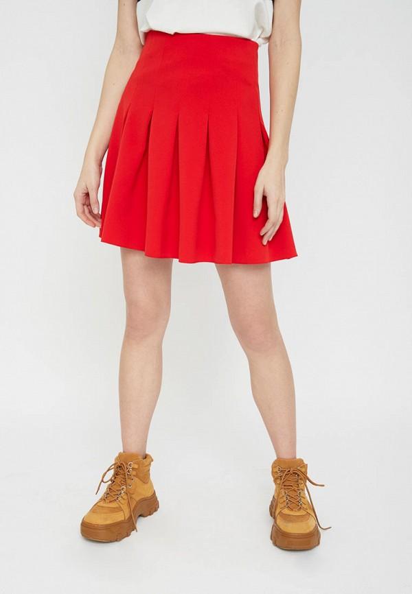 женская юбка lime, красная