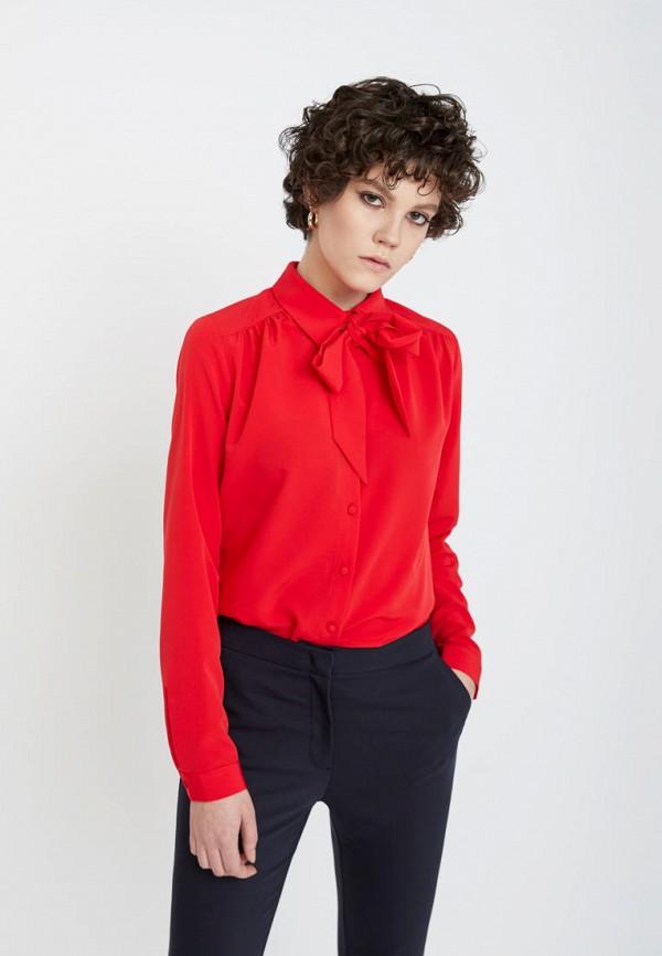 женская блузка lime, красная