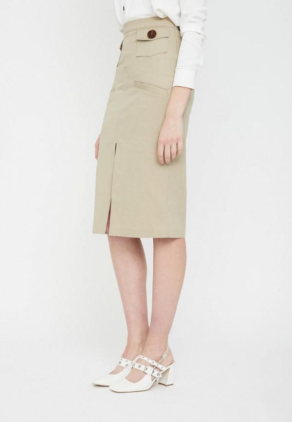 женская зауженные юбка lime, бежевая