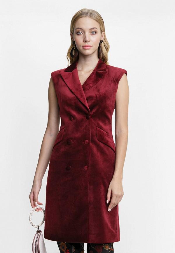 женское платье audrey right, бордовое