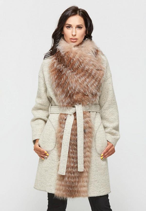 женское пальто mila nova, бежевое