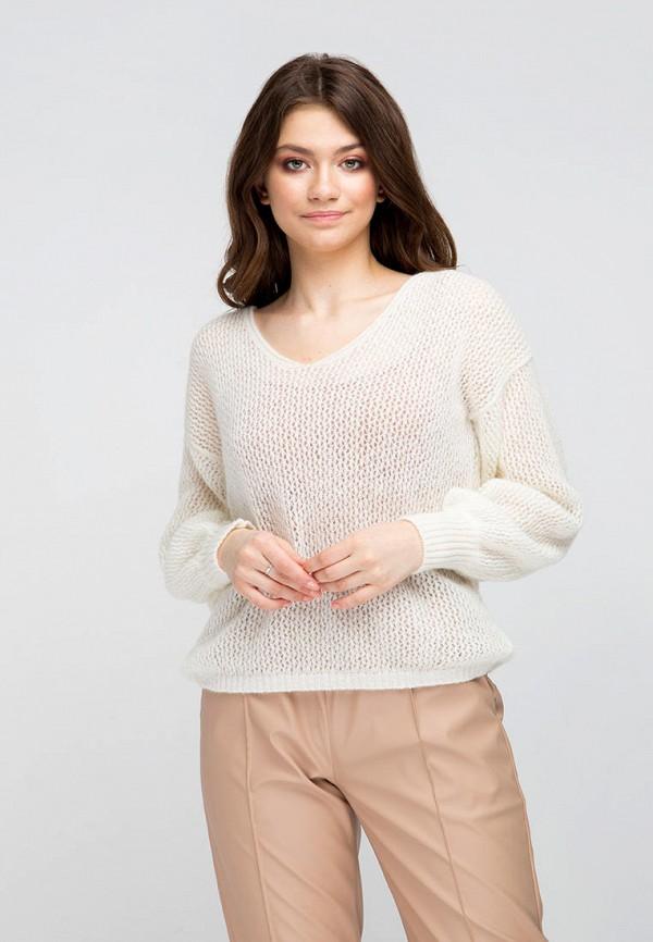 женский пуловер fors, белый