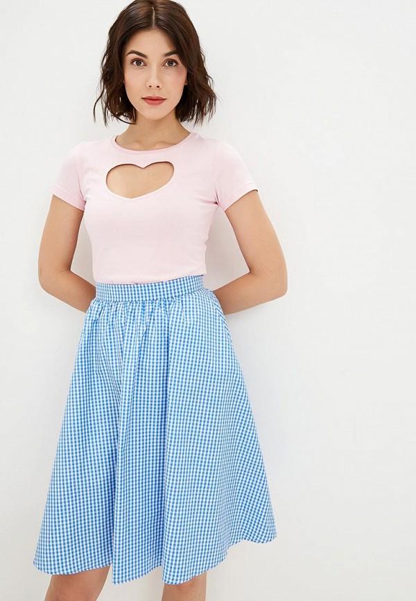 женская футболка fashion.love.story, розовая