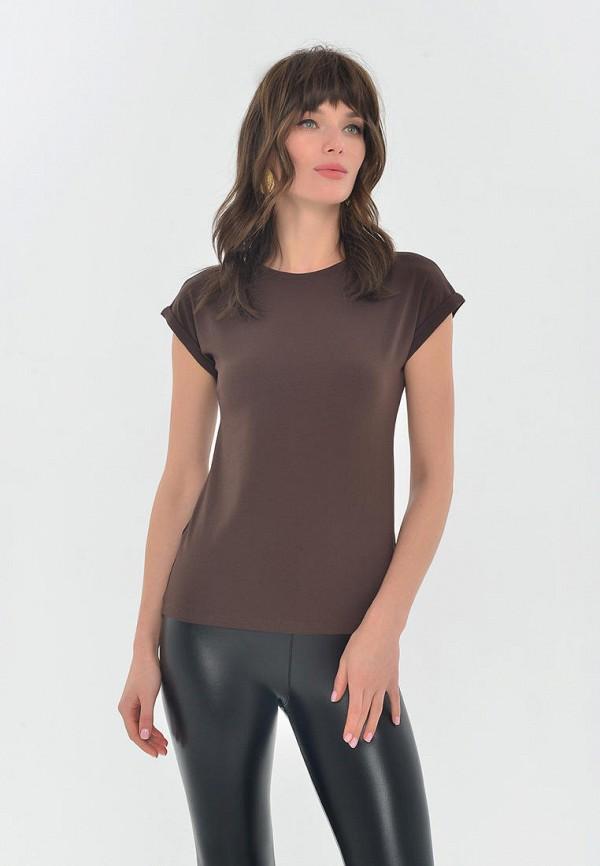 женская футболка mondigo, коричневая
